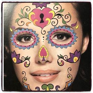 Halloween Sugar Skull Face Tattoo Festival Rave